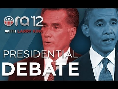 Embedded thumbnail for Presidential Debate #1 Post Show (Part 1) | Ora 2012 With Larry King