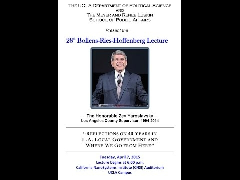 Embedded thumbnail for UCLA Bollens-Ries-Hoffenberg Lecture 2015